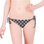 Modern Dots In Squares Mosaic Black White Bikini Bottom