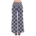 Modern Dots In Squares Mosaic Black White Pants