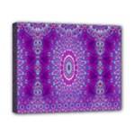 India Ornaments Mandala Pillar Blue Violet Canvas 10  x 8
