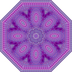 India Ornaments Mandala Pillar Blue Violet Straight Umbrellas by EDDArt