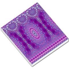 India Ornaments Mandala Pillar Blue Violet Small Memo Pads by EDDArt