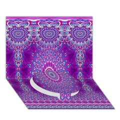India Ornaments Mandala Pillar Blue Violet Circle Bottom 3d Greeting Card (7x5) by EDDArt