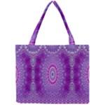 India Ornaments Mandala Pillar Blue Violet Mini Tote Bag