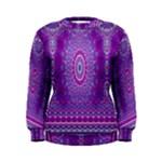 India Ornaments Mandala Pillar Blue Violet Women s Sweatshirt