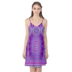 India Ornaments Mandala Pillar Blue Violet Camis Nightgown by EDDArt