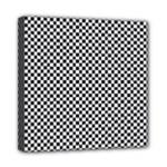 Sports Racing Chess Squares Black White Mini Canvas 8  x 8