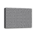 Sports Racing Chess Squares Black White Mini Canvas 7  x 5