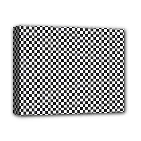 Sports Racing Chess Squares Black White Deluxe Canvas 14  X 11  by EDDArt
