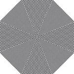Sports Racing Chess Squares Black White Hook Handle Umbrellas (Medium)