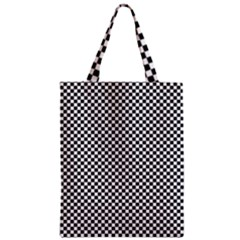 Sports Racing Chess Squares Black White Classic Tote Bag by EDDArt