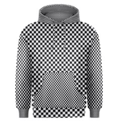 Sports Racing Chess Squares Black White Men s Pullover Hoodie by EDDArt