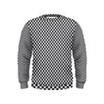 Sports Racing Chess Squares Black White Kids  Sweatshirt