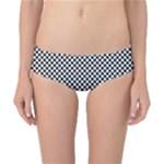 Sports Racing Chess Squares Black White Classic Bikini Bottoms