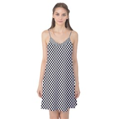 Sports Racing Chess Squares Black White Camis Nightgown by EDDArt