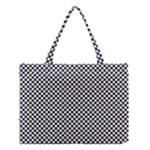 Sports Racing Chess Squares Black White Medium Tote Bag