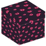Pattern Of Vampire Mouths And Fangs Storage Stool 12