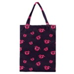 Pattern Of Vampire Mouths And Fangs Classic Tote Bag