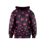 Pattern Of Vampire Mouths And Fangs Kids  Zipper Hoodie