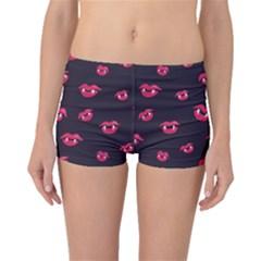 Pattern Of Vampire Mouths And Fangs Boyleg Bikini Bottoms by CreaturesStore