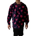 Pattern Of Vampire Mouths And Fangs Hooded Wind Breaker (Kids)