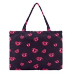 Pattern Of Vampire Mouths And Fangs Medium Tote Bag