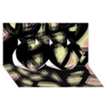 Follow the light Twin Hearts 3D Greeting Card (8x4)
