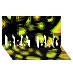 Yellow Light Best Bro 3d Greeting Card (8x4) by Valentinaart