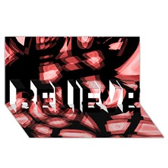 Red Light Believe 3d Greeting Card (8x4) by Valentinaart