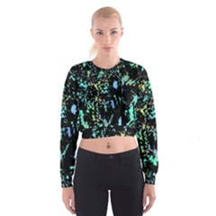 Colorful magic Women s Cropped Sweatshirt by Valentinaart