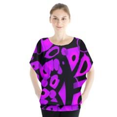 Purple Design Blouse by Valentinaart