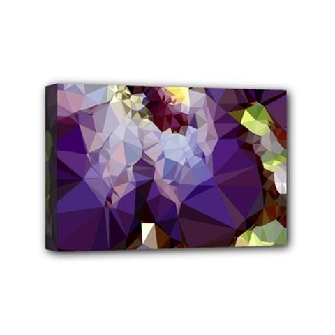 Purple Abstract Geometric Dream Mini Canvas 6  X 4  by DanaeStudio