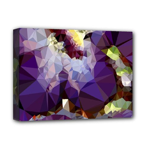 Purple Abstract Geometric Dream Deluxe Canvas 16  X 12   by DanaeStudio