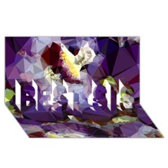 Purple Abstract Geometric Dream Best Sis 3d Greeting Card (8x4) by DanaeStudio