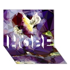 Purple Abstract Geometric Dream Hope 3d Greeting Card (7x5) by DanaeStudio