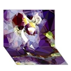 Purple Abstract Geometric Dream Ribbon 3d Greeting Card (7x5) by DanaeStudio
