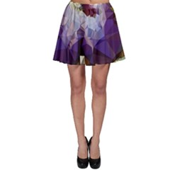 Purple Abstract Geometric Dream Skater Skirt by DanaeStudio