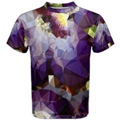 Purple Abstract Geometric Dream Men s Cotton Tee by DanaeStudio
