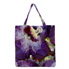 Purple Abstract Geometric Dream Grocery Tote Bag by DanaeStudio