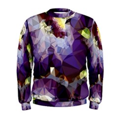 Purple Abstract Geometric Dream Men s Sweatshirt by DanaeStudio