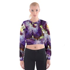 Purple Abstract Geometric Dream Women s Cropped Sweatshirt by DanaeStudio