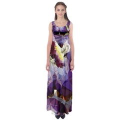 Purple Abstract Geometric Dream Empire Waist Maxi Dress by DanaeStudio