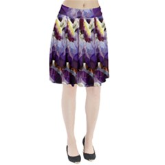 Purple Abstract Geometric Dream Pleated Skirt by DanaeStudio