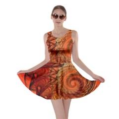 Nautilus Shell Abstract Fractal Skater Dress by designworld65