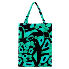 Cyan Design Classic Tote Bag by Valentinaart