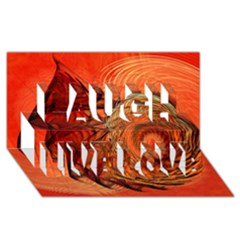 Nautilus Shell Abstract Fractal Laugh Live Love 3d Greeting Card (8x4) by designworld65