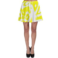 Yellow Sunny Design Skater Skirt by Valentinaart