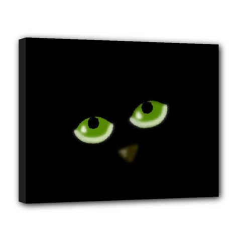 Halloween   Back Cat Canvas 14  X 11  by Valentinaart