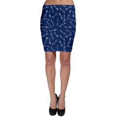 Spoonie Strong Print in Marine Blue Bodycon Skirt by AwareWithFlair