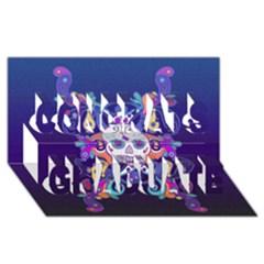 Día De Los Muertos Skull Ornaments Multicolored Congrats Graduate 3d Greeting Card (8x4) by EDDArt