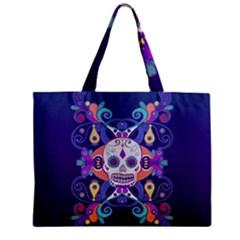 Día De Los Muertos Skull Ornaments Multicolored Mini Tote Bag by EDDArt
